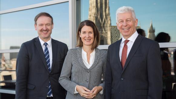 Christian Helmenstein, Henrietta Egerth, Klaus Pseiner (Foto: Klaus Morgenstern/FFG)