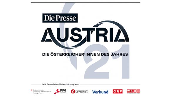 Sujet der Tageszeitung Die Presse. Text: Austria 21: Die Österreicher:innen des Jahres