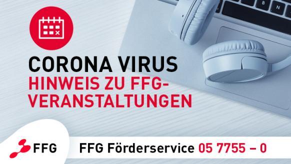 Corona-Virus - Hinweis zu FFG-Veranstaltungen