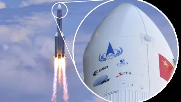 FFG Logo ziert Kapsel der chinesischen Raumsonde