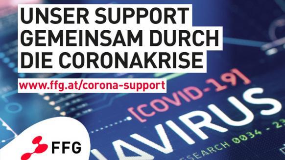 Unser Support für die Corona-Forschung. Alle Infos unter: www.ffg.at/corona-support